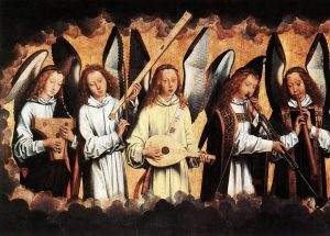 Les anges musiciens - Hans Memling.2